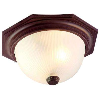 Outer Banks Collection 2-Light Architectural Bronze Outdoor Ceiling-Mount Fixture