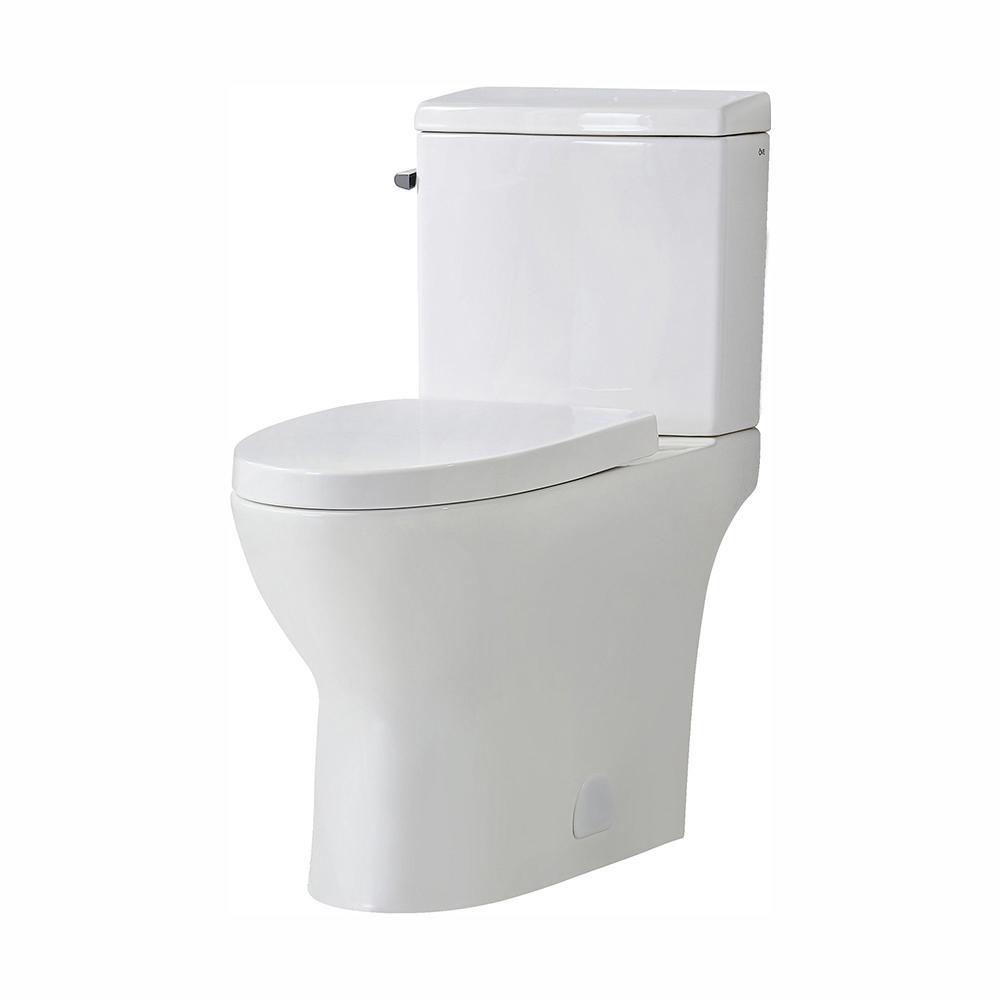 Magnificent Ove Decors Caspian 2 Piece 1 1 1 6 Gpf Dual Flush Elongated Toilet In White Seat Included Machost Co Dining Chair Design Ideas Machostcouk