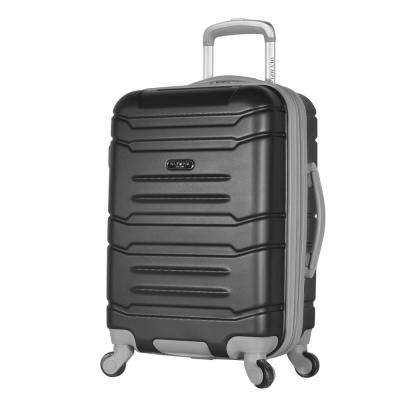 Denmark 21 in. Black Expandable Carry-On Spinner with Hidden Compartment