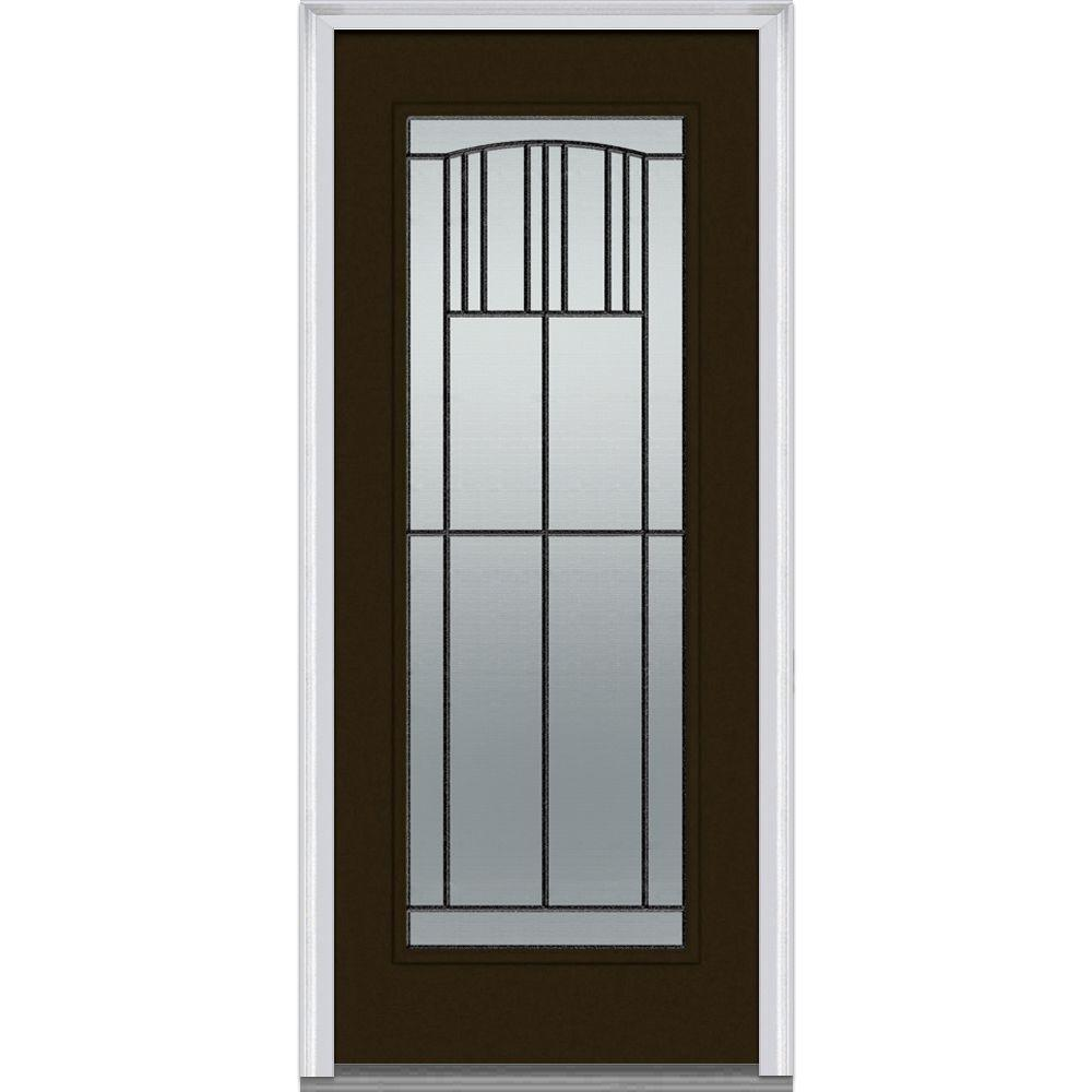 MMI Door 32 in. x 80 in. Madison Right-Hand Full Lite Classic Primed Fiberglass Smooth Prehung Front Door-Z007314R - The Home Depot  sc 1 st  Home Depot & MMI Door 32 in. x 80 in. Madison Right-Hand Full Lite Classic ... pezcame.com
