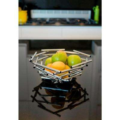 Gilles Small Stainless Steel Decorative Fruit Bowl