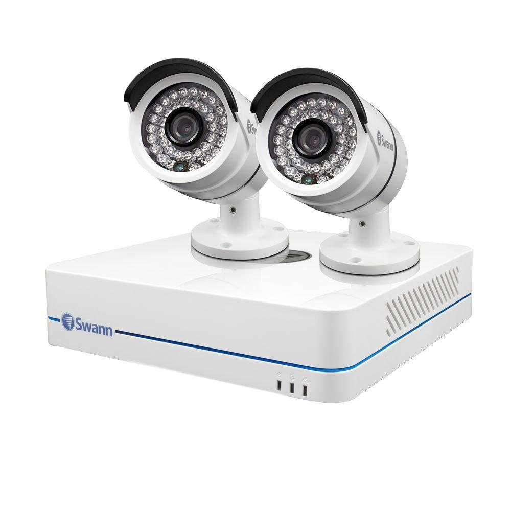 Swann 4-Channel Professional Security System 720p Network Video Recorder and 2 x HD Cameras