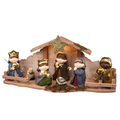 8 in. Nativity Set with Light