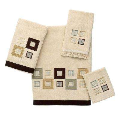 Metropolis 4-Piece Bath Towel Set in Linen