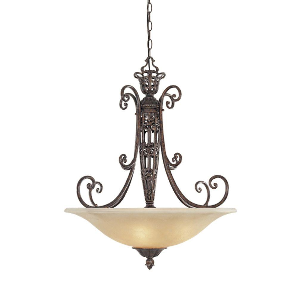 Designers Fountain Somerset 3-Light Burnt Umber Hanging Pendant