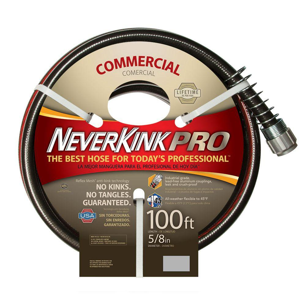 Neverkink Pro 5 8 In Dia X 100 Ft Commercial Duty Water