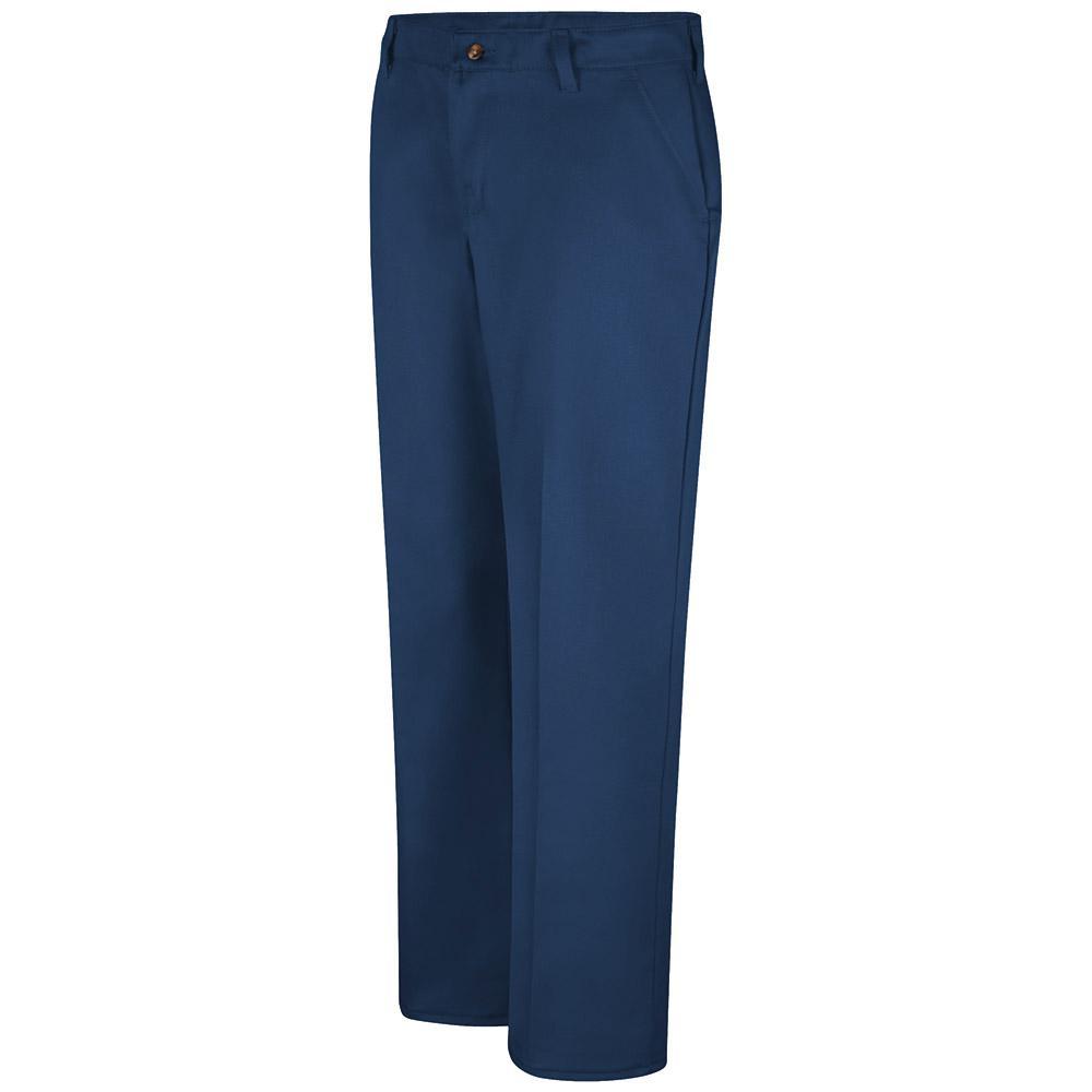 Red Kap Women's 20 in. x 32 in. Navy Women's Plain Front Cotton Pant