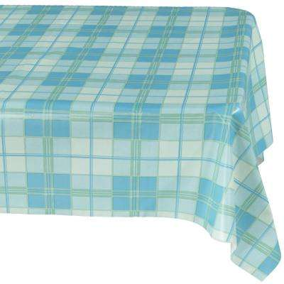 55 in. x 102 in. Indoor and Outdoor Blue Sunflower Design Table Cloth for Dining Table