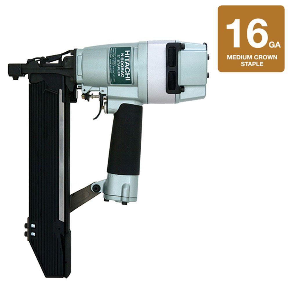 Hitachi 2 in. x 16-Gauge 7/16 in. Crown Power-Head Construction Stapler