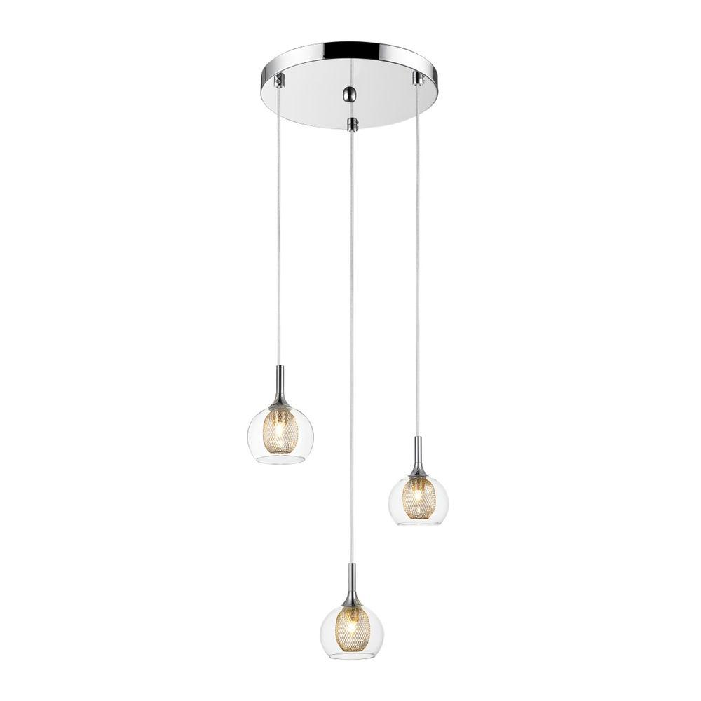 Filament Design Peak 3-Light Chrome Pendant