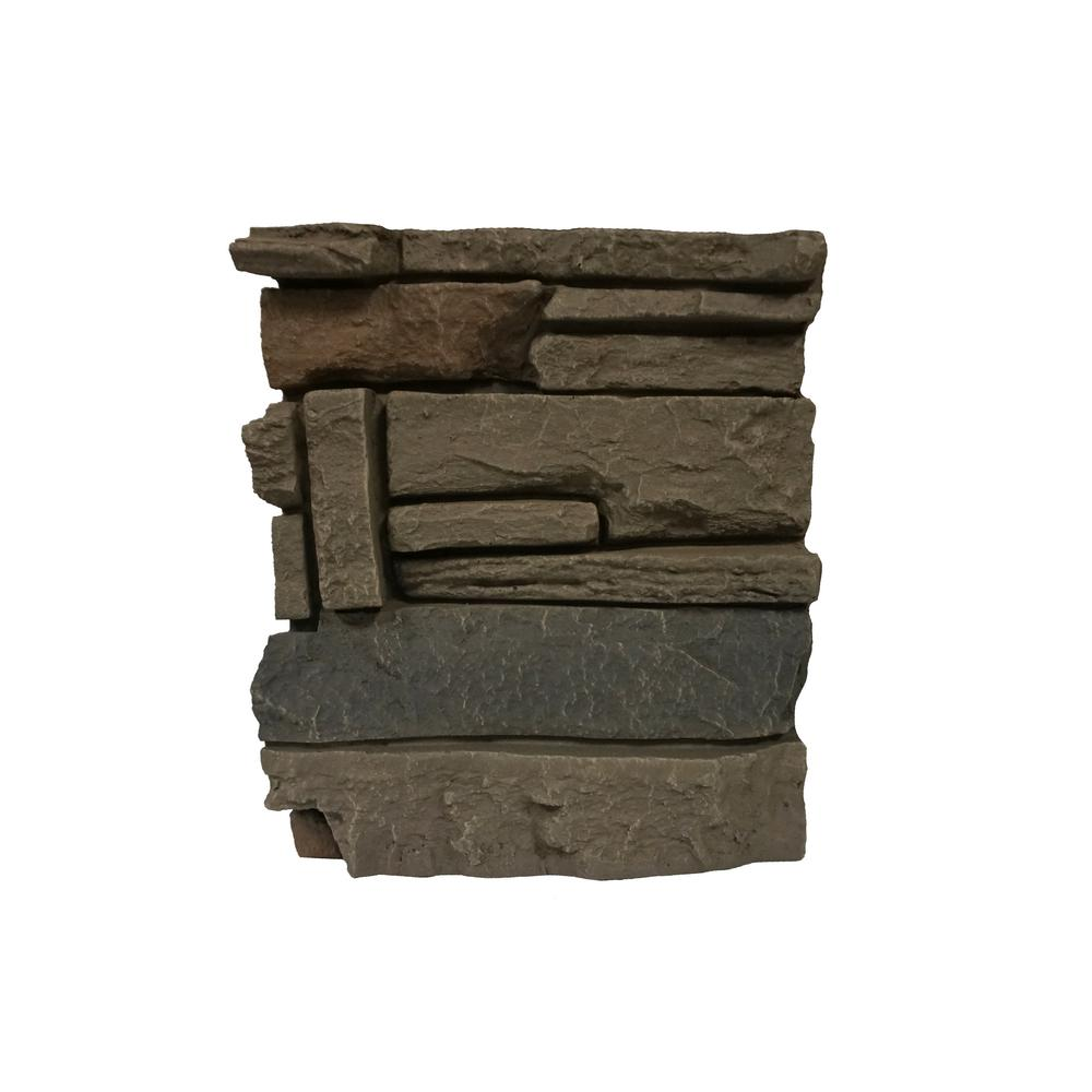 Stacked Stone Coffee 11 in. x 11 in. Faux Stone Siding