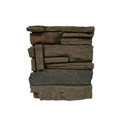 Stacked Stone Coffee 11 in. x 11 in. Faux Stone Siding Sample