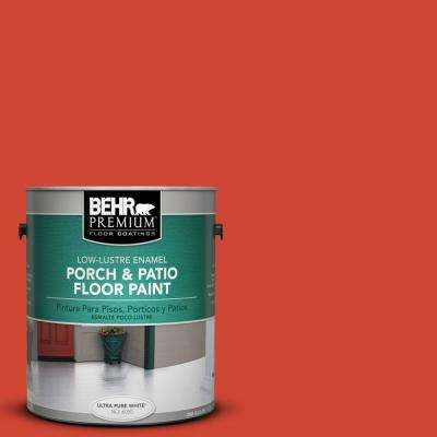 1 gal. #P180-7 Top Tomato Low-Lustre Porch and Patio Floor Paint