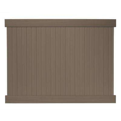 6 ft. H x 8 ft. W Cedar Grove Chestnut Brown Vinyl Privacy Fence Panel