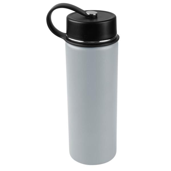 Tahoe Trails 30 oz. Charcoal Gray Vacuum Insulated Stainless Steel Water Bottle (2-Pack)