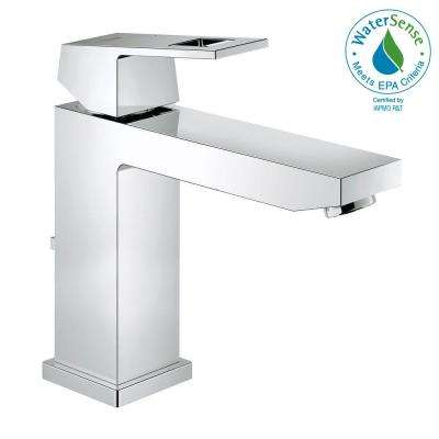 Eurocube M-Size Single Hole Single-Handle Bathroom Faucet in StarLight Chrome
