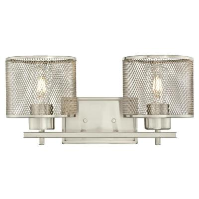 Morrison 2-Light Brushed Nickel Wall Mount Bath Light
