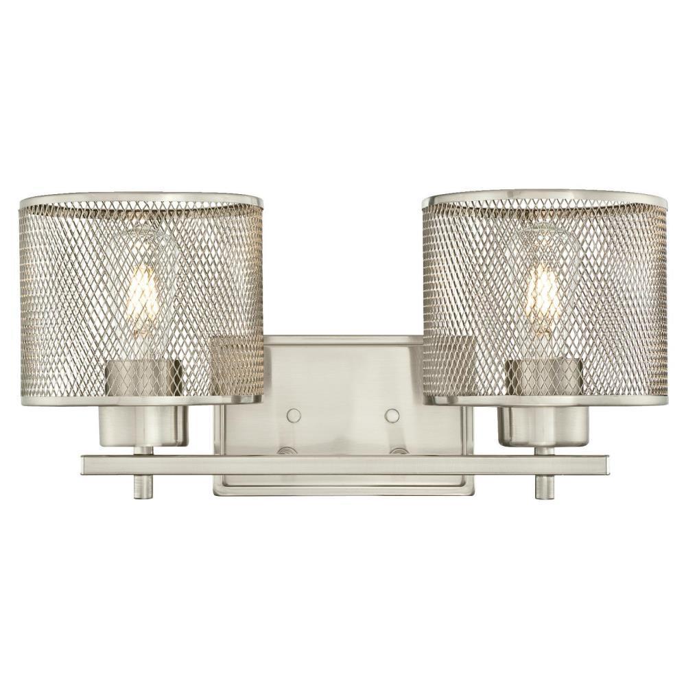 Morrison 2-Light Brushed Nickel Wall Mount Bath Light