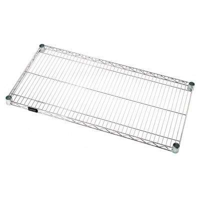 One Industrial 18 in. W x 36 in. L Chrome Wire Shelf