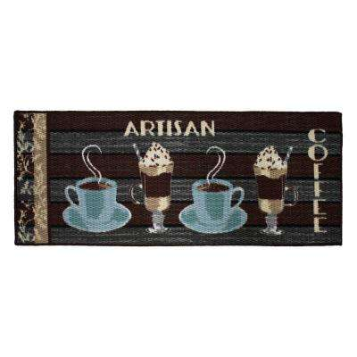 Artisan Coffee 20 in. x 48 in. Textured Accent Kitchen Runner