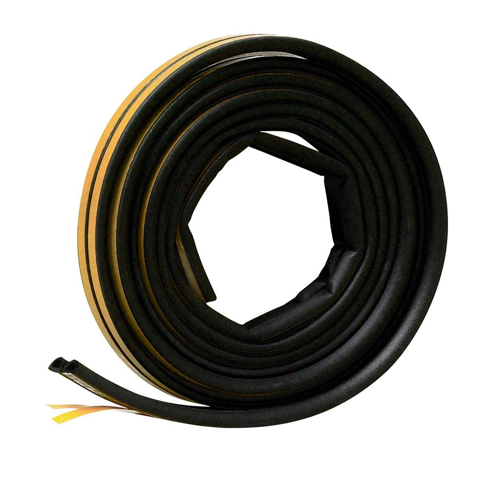 Frost King E/O 5/16 in. x 1/4 in. x 17 ft. Black EPDM Cellular Rubber Weatherstrip Tape