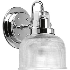 Progress Lighting Archie Collection 1-Light Chrome Bath Sconce with Clear Prismatic Glass... by Progress Lighting
