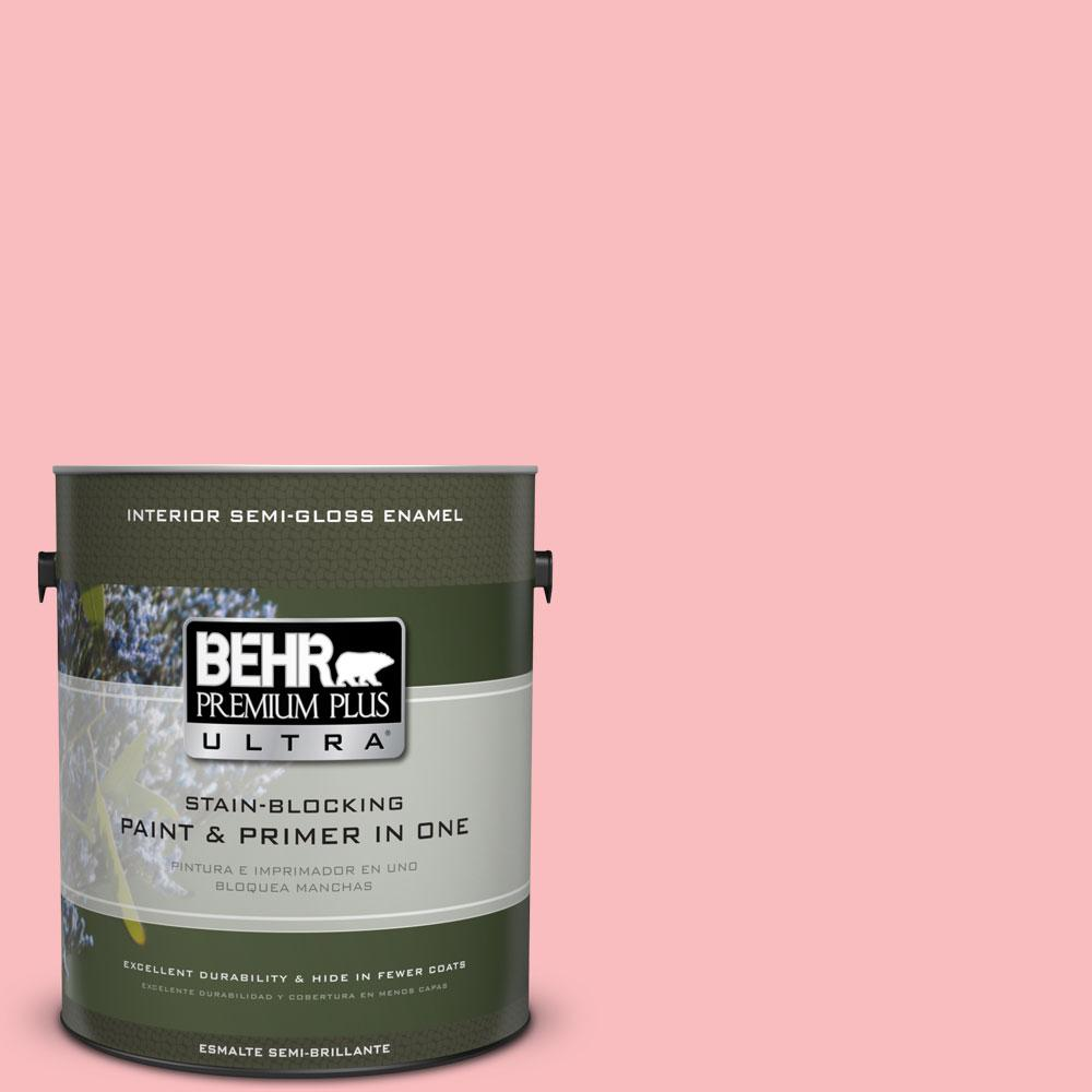 1-gal. #140A-3 Carnation Bloom Semi-Gloss Enamel Interior Paint