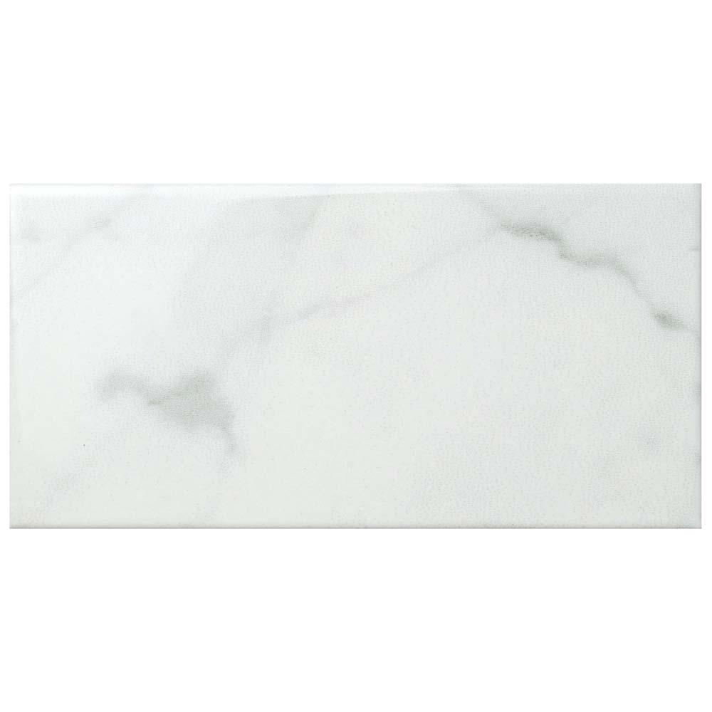4x6 ceramic tile tile the home depot classico carrara glossy 3 in x 6 in ceramic wall tile dailygadgetfo Choice Image