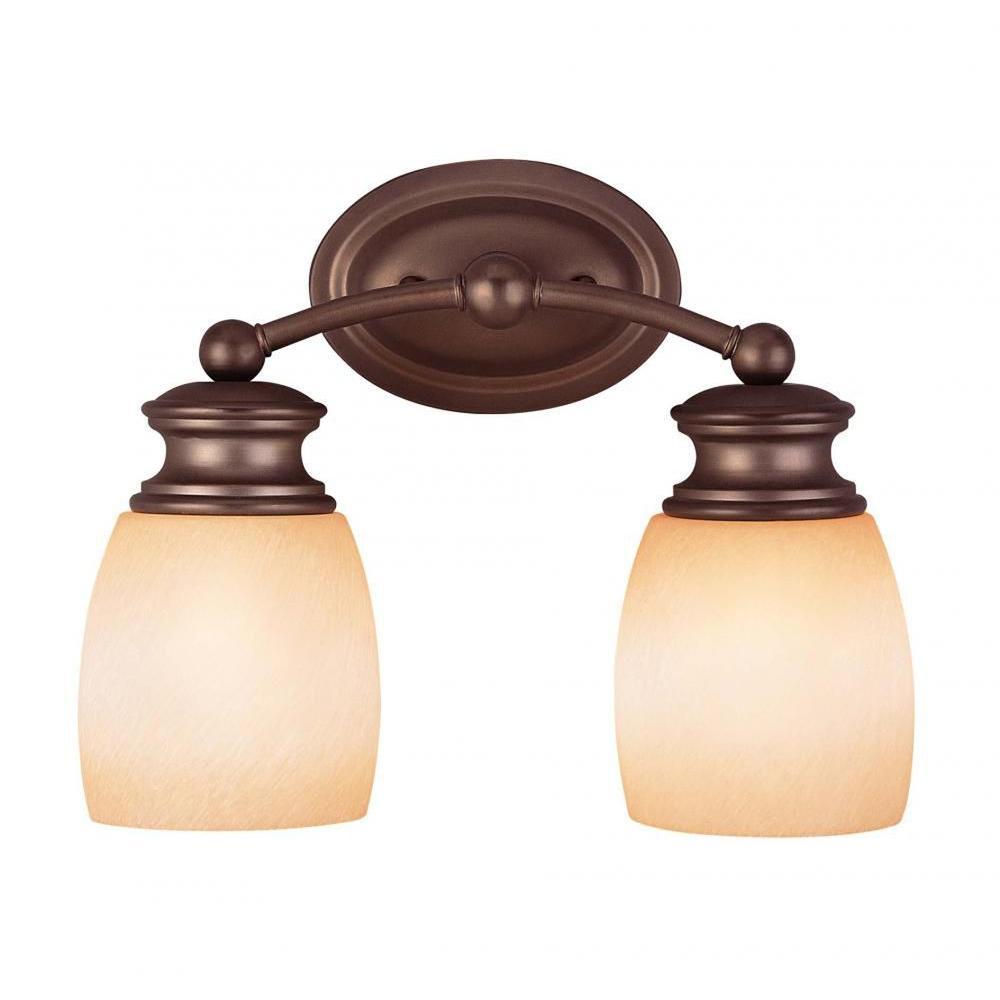 Filament Design Moniker 2-Light Oiled Burnished Bronze Bath Vanity Light