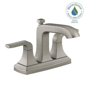 Bathroom Faucets Brushed Nickel delta everly 4 in. centerset 2-handle bathroom faucet in
