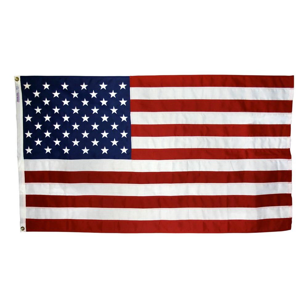 Tough-Tex 4 ft. x 6 ft. Polyester U.S. Flag for High