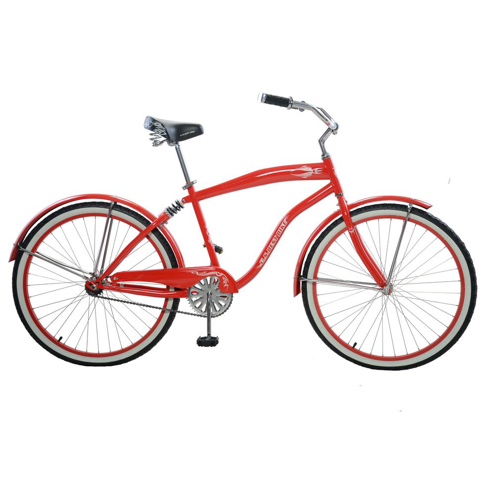 Cycle Force 26 in. Men's Suspension Cruiser in Red, Reds/...