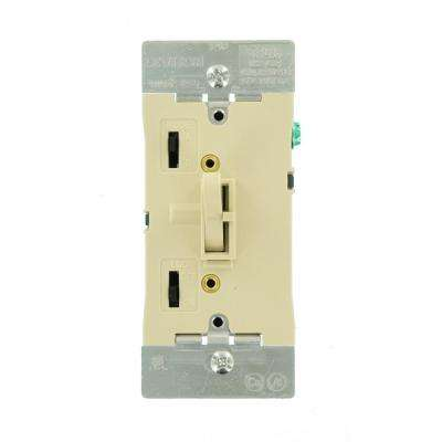 300-Watt Dimmable LED/CFL 600-Watt Incandescent and Halogen Toggle Slide Universal Dimmer, Ivory