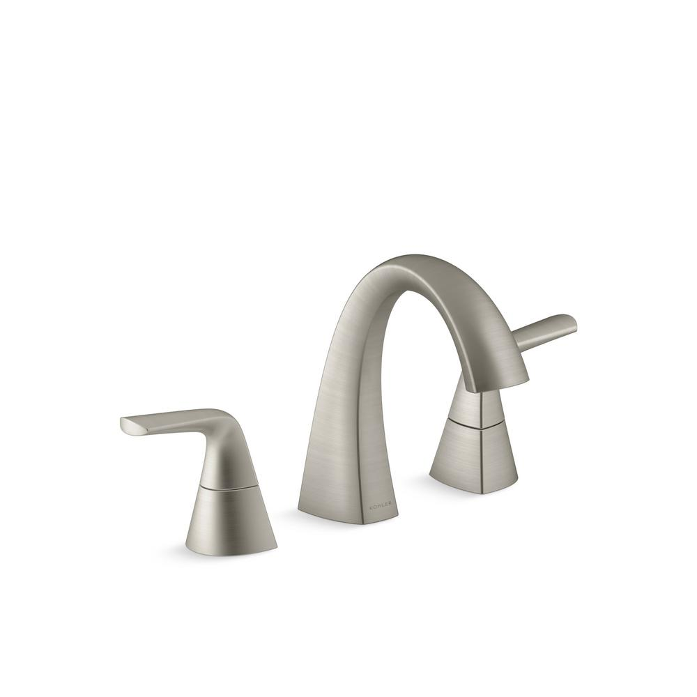 KOHLER Elmbrook 8 in. Widespread 2-Handle Bathroom Faucet in Brushed ...