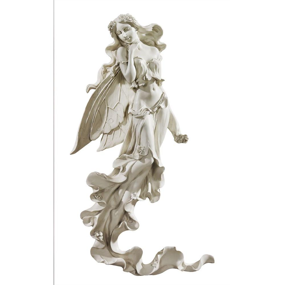 Design Toscano 22-1/2 in. Brianna the Summer Breeze Fairy Wall Sculpture-DISCONTINUED