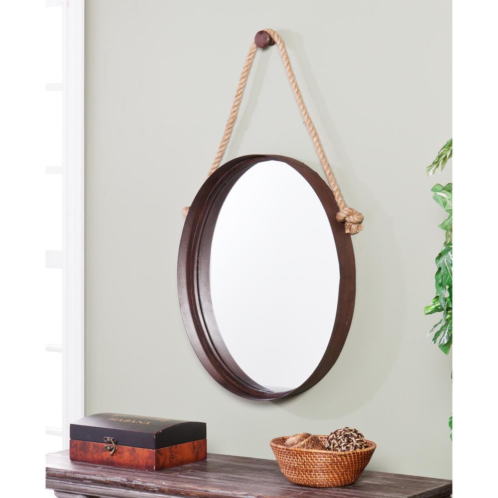38.5 in. x 20.5 in. Rich Rust Melinda Decorative Framed Mirror