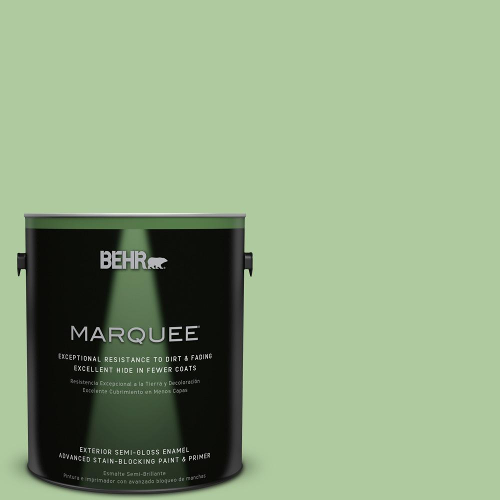 BEHR MARQUEE 1-gal. #440D-4 Desert Cactus Semi-Gloss Enamel Exterior Paint
