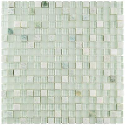 Tessera Mini Ming 11-3/4 in. x 11-3/4 in. x 8 mm Glass and Stone Mosaic Tile