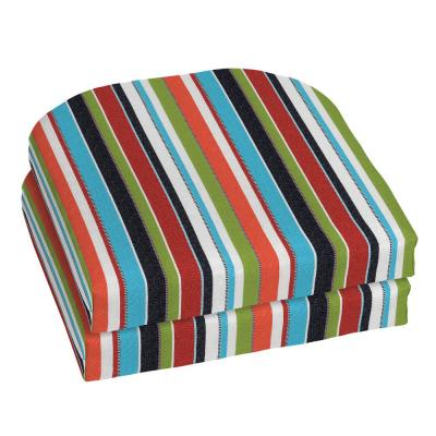 18 x 18 Sunbrella Carousel Confetti Outdoor Chair Cushion (2-Pack)