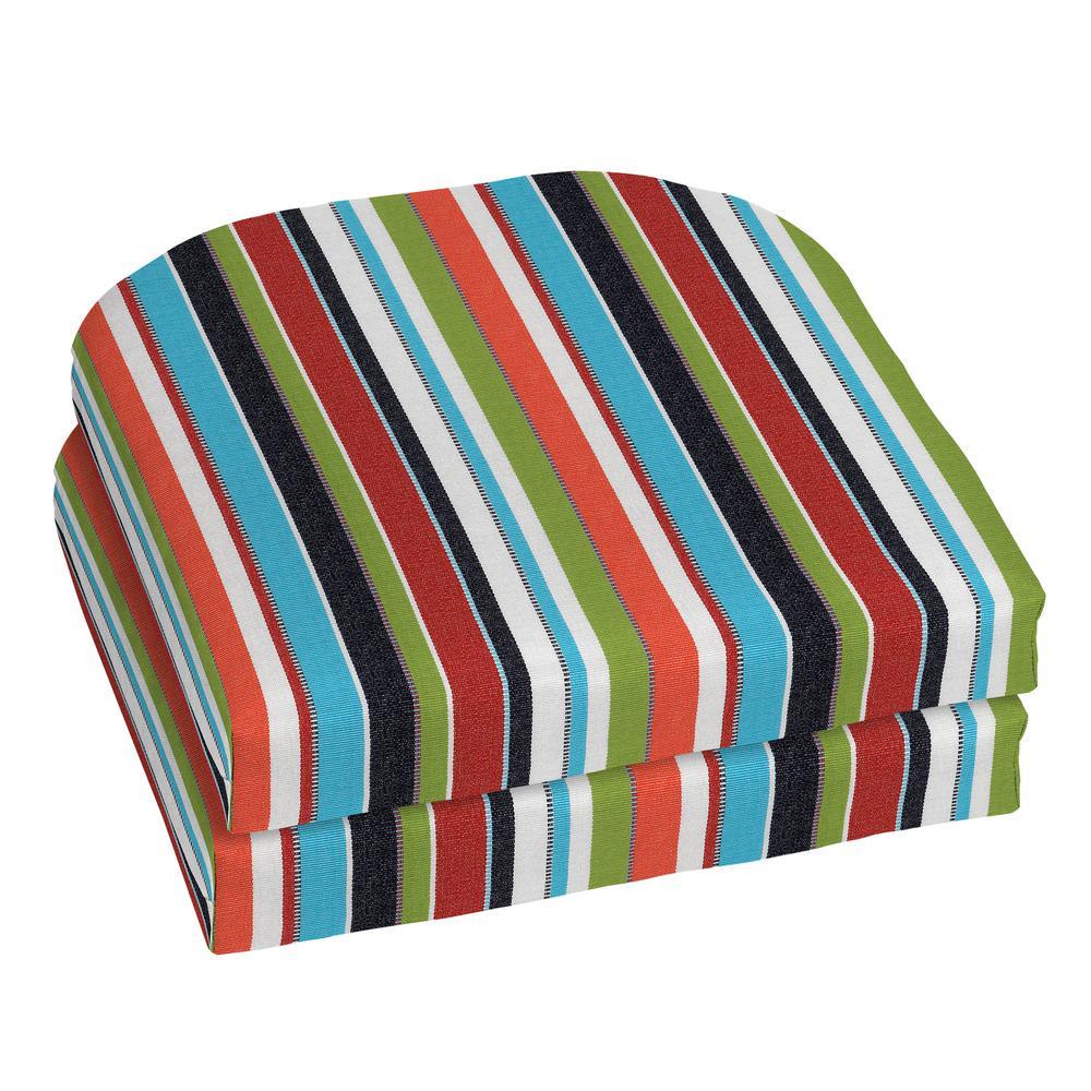 18 x 18 Sunbrella Carousel Confetti Outdoor Chair Cushion (2-Pack)