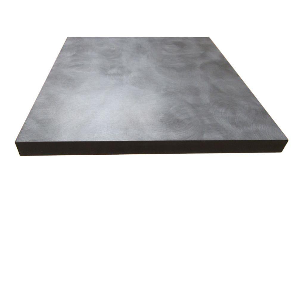 null 3/4 in. x 12 in. x 72 in. Grey Polaris Thermally-Fused Melamine Shelf