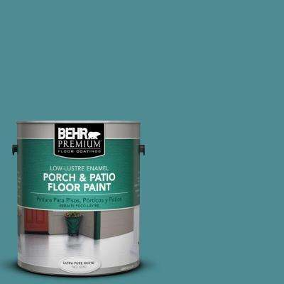 1 gal. #PFC-49 Heritage Teal Low-Lustre Interior/Exterior Porch and Patio Floor Paint