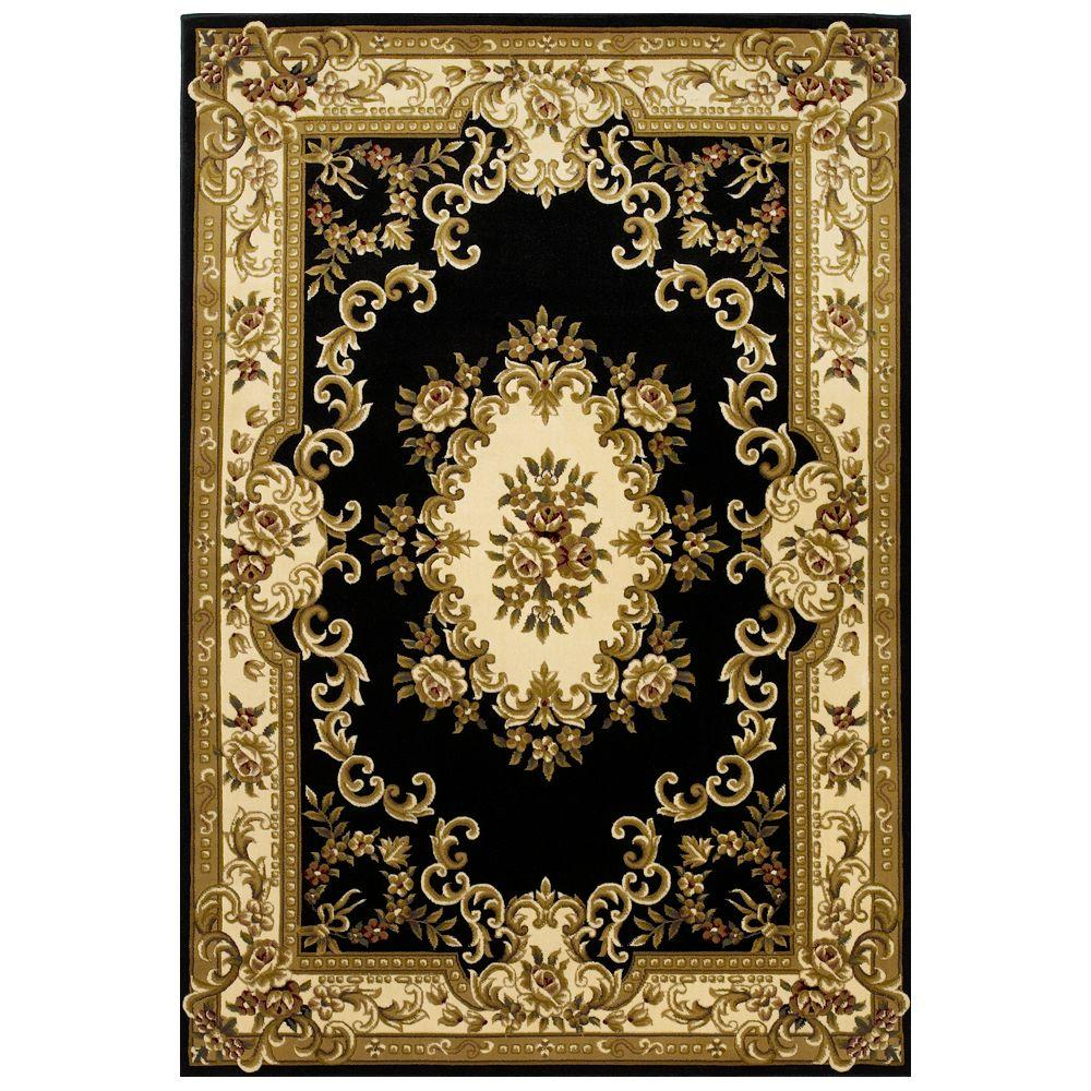 This Review Is From Elegant Aubusson Black 3 Ft In X 4 11 Area Rug