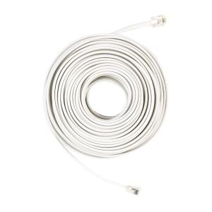 Almond Telephone Line Cord Cable RJ11 DSL Modem Fax Phone to Wall 24/'ft