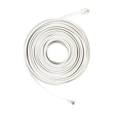 50 ft. Telephone Line Cord, White