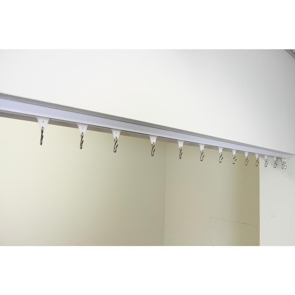 1 ft. - 6 ft. Ceiling Room Divider Track Kit