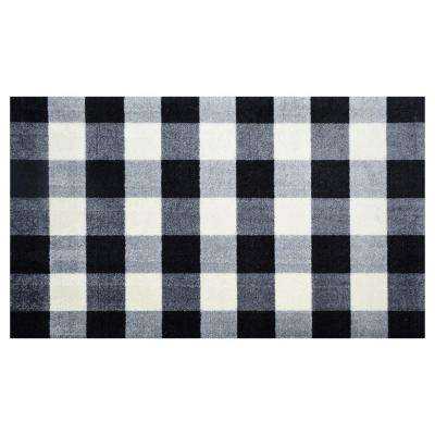 In-Home Washable/Non-Slip Buffalo Check 2 ft. 3 in. x 3 ft. 11 in. Area Rug & Mat