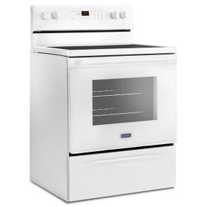 Maytag 5 3 cu  ft  Electric Range with Shatter-Resistant Cooktop in White