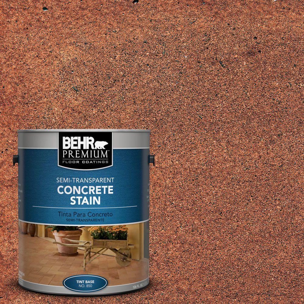 BEHR Premium 1 gal. #STC-13 Saltillo Tile Semi-Transparent Interior/Exterior Concrete Stain