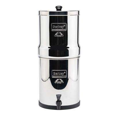 Royal Water Filter with 2 Berkey Black Water Filter Cartridge, and 2 Flouride Filter Cartridge. 3.25 Gallon Capacity